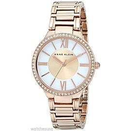 Anne Klein AK/1794MPRG Swarovski Crystal Accented Rose Gold Tone Womens Watch
