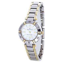 Anne Klein 10/9467 Two-Tone Swarovski Crystal Accented Mother Of Pearl Dial Womens Watch