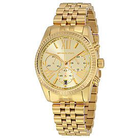 Michael Kors MK5556 Lexington Champagne Dial Gold Tone Chronograph Womens Watch