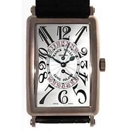 Franck Muller Long Island 18K White Gold Watch Jumping Second Hand Unisex Watch