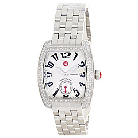 Michele Mini Urban MW02A01A2927 Diamond Silver Dial Stainless Steel Bracelet Womens Watch