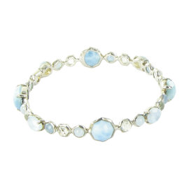 Ippolita Rock Candy Sterling Silver Blue Topaz, Quartz and Turquoise Bracelet