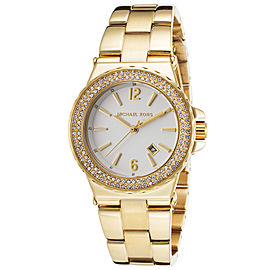 Michael Kors MK5920 Silver Dial Gold Tone Stainless 32mm Womens Watch