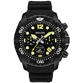 Bulova 98B243 Black IP Stainless Steel 48mm Mens Watch