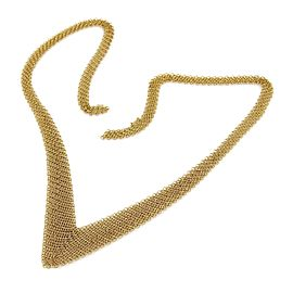 Tiffany & Co. Peretti 18K Yellow Gold V Mesh Chain Link Drape Necklace