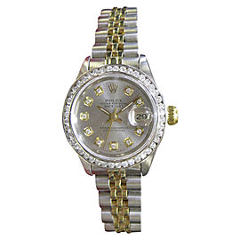 Rolex Oyster Perpetual Datejust 69173 Stainless Steel and Gold with Diamonds Automatic 25mm Womens Watch