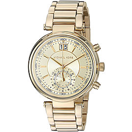 Michael Kors MK6362 Gold Tone Stainless Steel 39mm Womens Watch