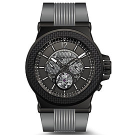 Michael Kors MK9026 Dylan Skeleton Dial Silicone Strap Automatic 48mm Mens Watch