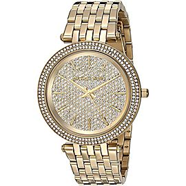 Michael Kors MK3438 Crystal Dial Bezel Gold Tone 39mm Womens Watch
