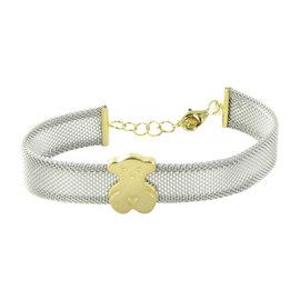 Tous 18K Yellow Gold & Stainless Steel Icon Mesh Bear Bracelet