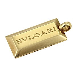 Bulgari Bvlgari 18K Yellow Gold Signature Ingot Bar Bar Pendant