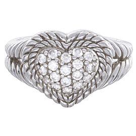 Judith Ripka 925 Sterling Silver CZ Stones Ring Size 10.25