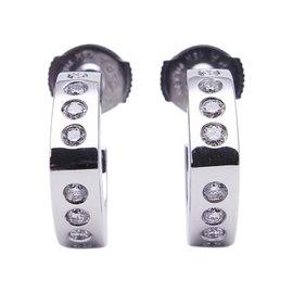Charriol 750 White Gold Diamond Earrings