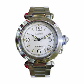 Cartier Pasha 2324 Automatic Stainless Steel White Dial 35mm Womens Watch