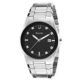 Bulova 96D104 Stainless Steel Black Dial Quartz 40mm Men's Watch
