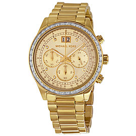 Michael Kors Brinkley MK6187 Gold Tone Stainless Steel 40mm Womens Watch