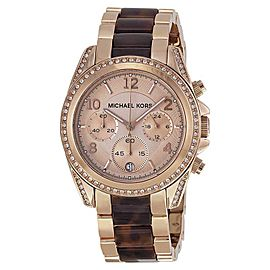Michael Kors MK5859 Gold Rose Gold Stainless Steel 39mm Womens Watch