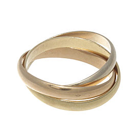 Cartier Trinity 18K Yellow, White & Rose Gold Ring Size 14.5