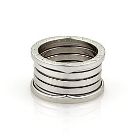 Bulgari Bvlgari B Zero-1 18K White Gold Band Ring Size 5