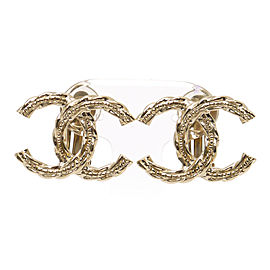 Chanel Gold Tone Metal Coco Mark Champagne Earrings