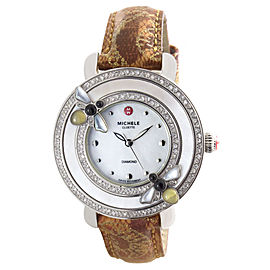 Michele MW20C33J5025 Stainless Steel Gold Leather Band 38mm Womens Watch