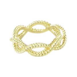 Roberto Coin Barocco 18K Yellow Gold Braided Twist Ring Size 6.5