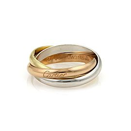 Cartier Trinity 18K Yellow, Rose and White Gold Rolling Band Ring Size 10.75