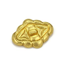Ilias Lalaounis 18K Yellow Gold Hammered Fancy Brooch/Pendant