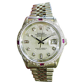 Rolex Datejust Stainless Steel Mother-of-Pearl Dial Automatic 36mm Mens Watch