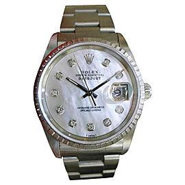 Rolex Datejust Stainless Steel Vintage 36mm Mens Watch