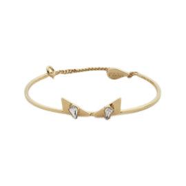 Fendi Gold Tone Hardware Bangle Bracelet