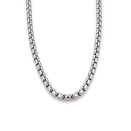 Tiffany & Co. Germany 18K White Gold Box Link Chain Necklace