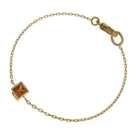 Gucci 18K Yellow Gold & Citrine G Cube Bracelet