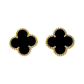 Van Cleef & Arpels Alhambra 18K Yellow Gold Earrings