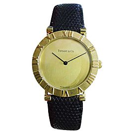Tiffany & Co. Atlas 18K Yellow Gold Quartz 31mm Mens Watch