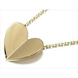 Van Cleef & Arpels 18k Yellow Gold Frivole Heart Necklace