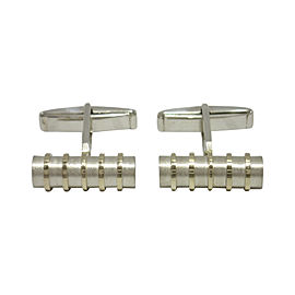 Tiffany & Co. 925 Sterling Silver 18K Yellow Gold Cufflinks