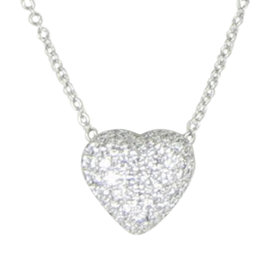 Kwiat 18K White Gold with 1.25ct Diamond Heart Pendant Necklace