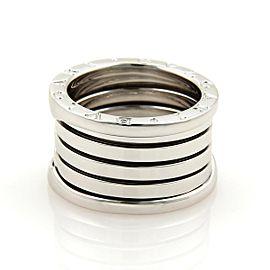 Bulgari B Zero-1 18K White Gold Band Ring Size 4.5