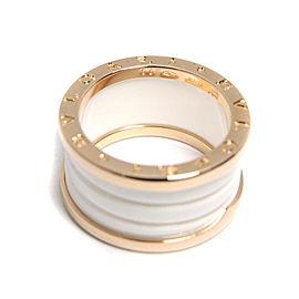 Bulgari B.Zero1 18K Rose Gold & Ceramic Ring Size 7.25