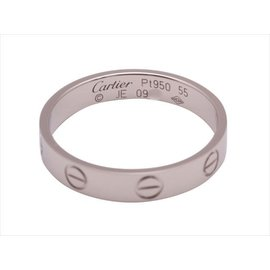 Cartier 950 Platinum Mini Love Wedding Ring Size 7.5