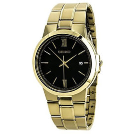 Seiko SGEG48 Gold Tone Stainless Steel Quartz 40mm Mens Watch