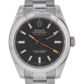 Rolex Milgauss 116400 Black Dial Stainless Steel Swiss Automatic 40mm Mens Watch