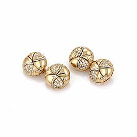 Bulgari Diamond 18K Yellow Gold Chain Cufflinks