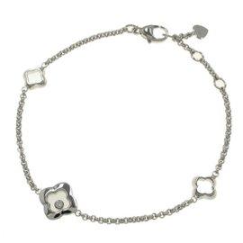 Chopard Happy Diamond 18K White Gold Bangle Bracelet