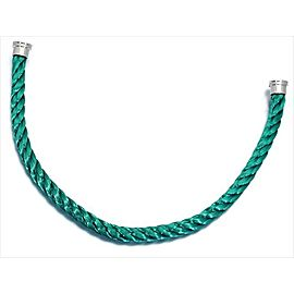 Fred of Paris Stainless Steel Emerald Green Cord Bracelet
