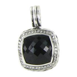 David Yurman Albion 925 Sterling Silver with Black Onyx & 0.30ct. Diamond Pendant