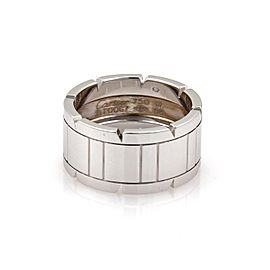 Cartier Tank Francaise 18K White Gold Band Ring Size 8.5