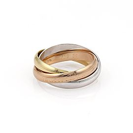 Cartier Trinity 18K Yellow White & Rose Gold Rolling Band Ring Size 7.5