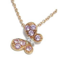 Ponte Vecchio 18K White & Rose Gold Sapphire Diamond Butterfly Necklace
